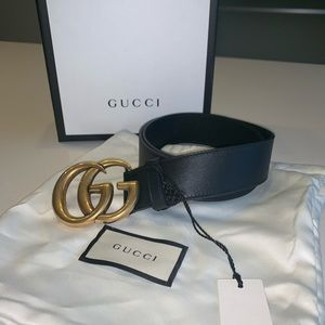 Gucci belt  GG Marmont Gold Buckle Belt